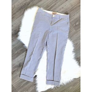 Banana Republic Martin Fit Crop Pants Blue White 2